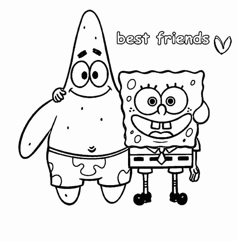 918x932 Four Anime Best Friends Forever Coloring Page Wecoloringpage Fair