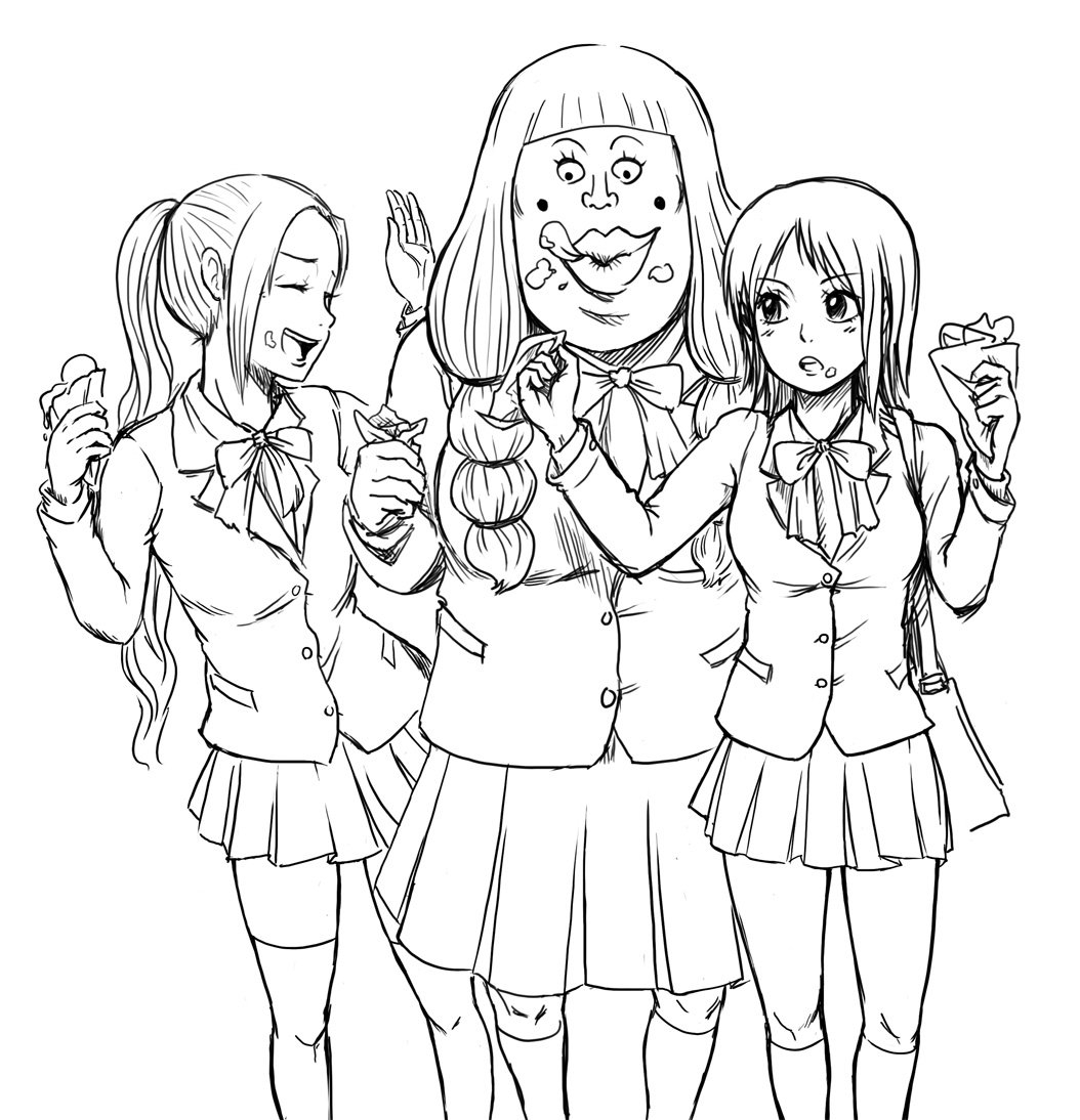 1054x1094 Anime Friends Coloring Pages Gallery Coloring For Kids