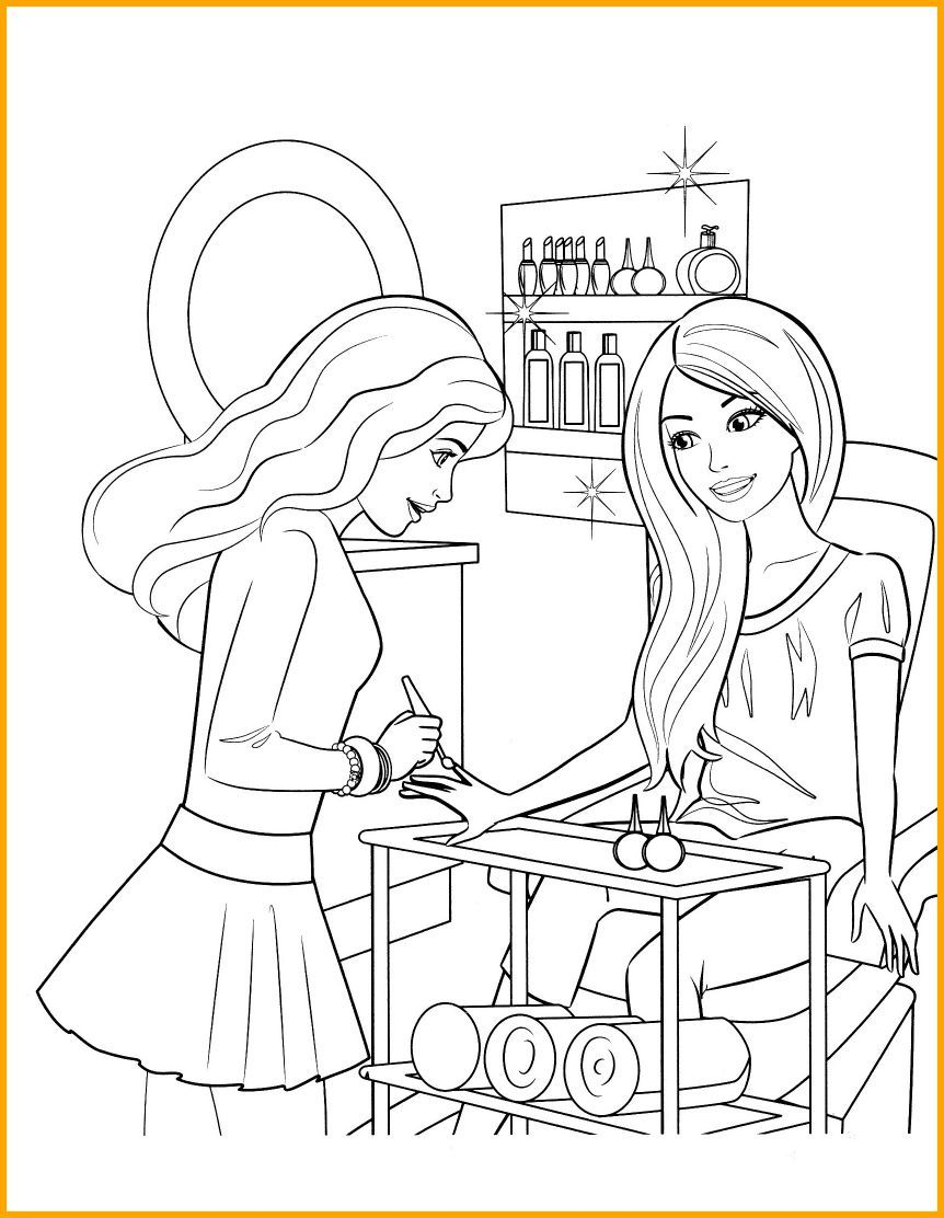 862x1112 The Best Printable Barbie Coloring Pages For Kids Drawing Pic