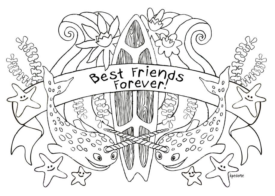 915x652 Best Friend Coloring Pages