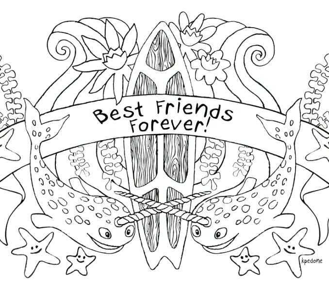 Coloring Pages Of Best Friends Forever At Getdrawings Free Download