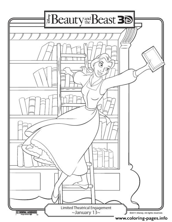 Coloring Pages Of Books In A Library