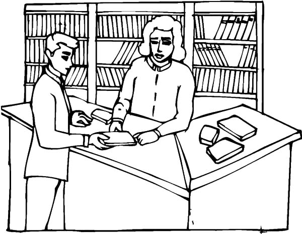 600x466 Book Reader In Library Coloring Pages Book Reader In Library