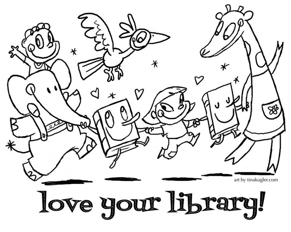 940x751 Library Coloring Pages Librarian Coloring Page Book Reader