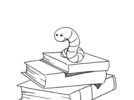 440x330 Library Book Coloring Page