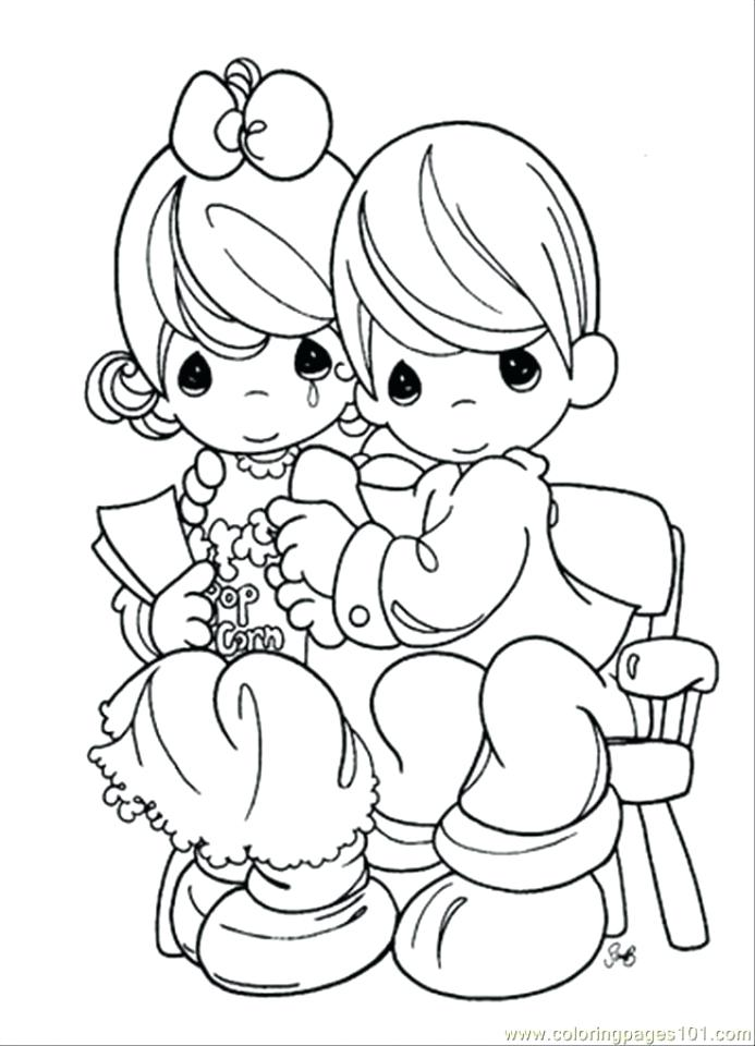 Coloring Pages Of Boy And Girl