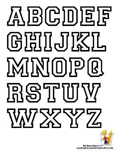 235x304 Bubble Letters Coloring Page Free Download