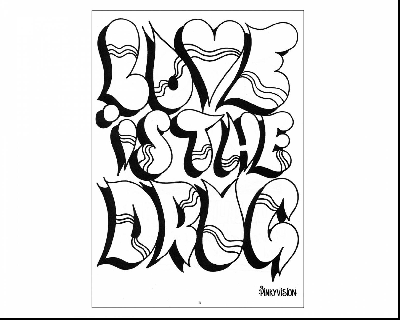 1650x1320 Bubble Letters Coloring Page