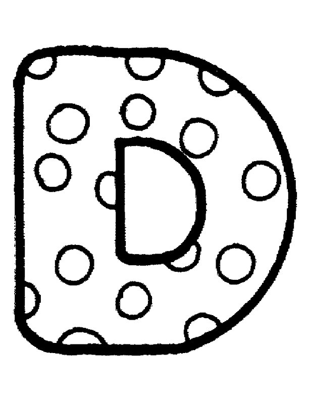 612x792 Bubble Letter Coloring Pages For Free