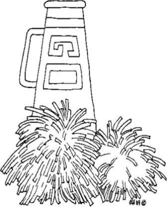 Coloring Pages Of Cheerleader