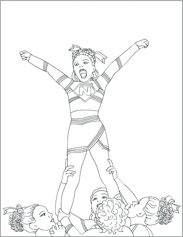 618x798 Cheerleaders Coloring Pages Cheerleader Coloring Pages Click