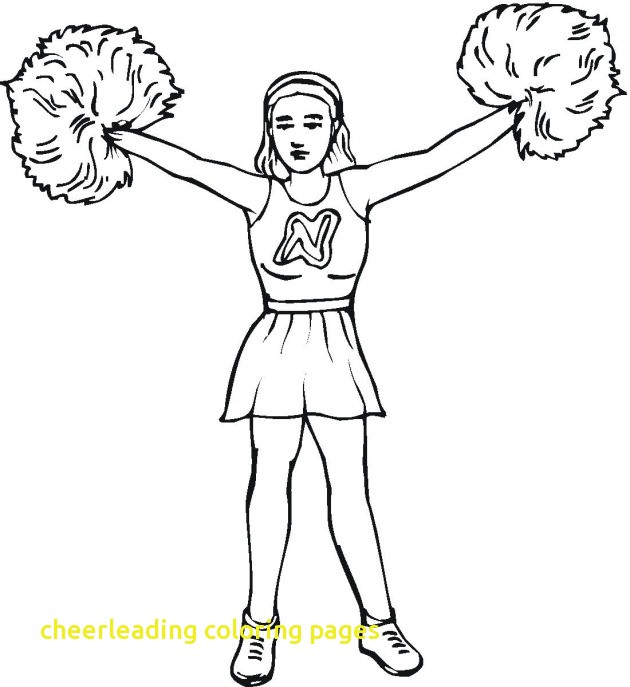 630x687 Cheerleading Coloring Pages With Cheer Coloring Pages
