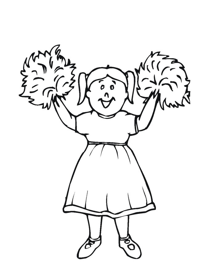 685x886 Free Printable Cheerleading Coloring Pages For Kids