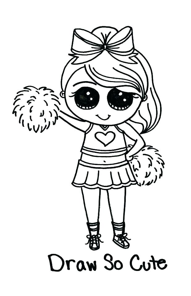 618x956 Cheer Coloring Pages
