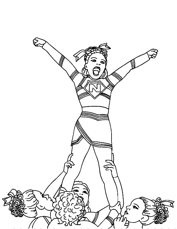 600x775 Cheerleader Won Cheerleading Competition Coloring Pages Best