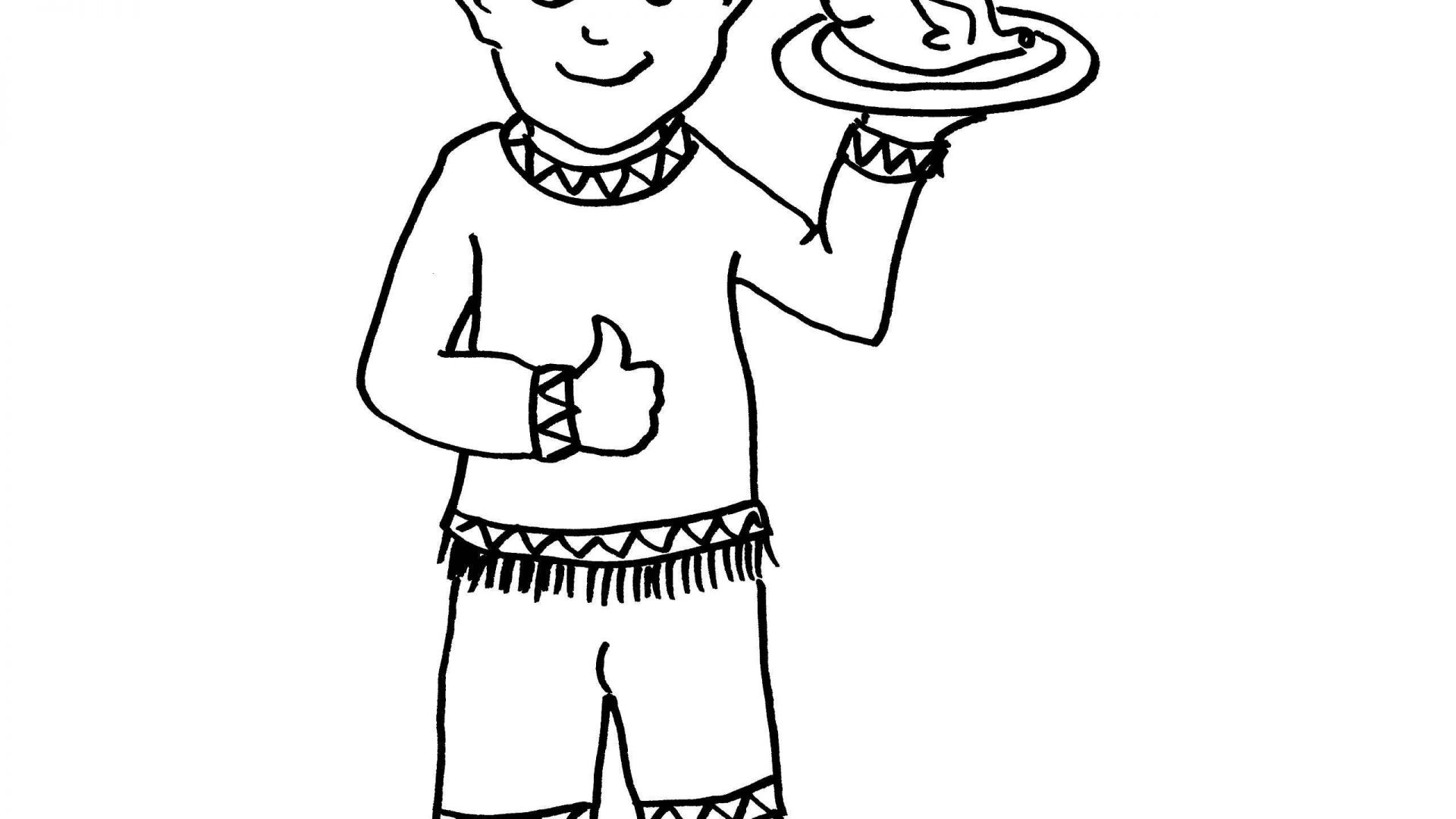 1920x1080 Coloring Page Of Indian Boy Best Girl Holding Hands Thanksgiving