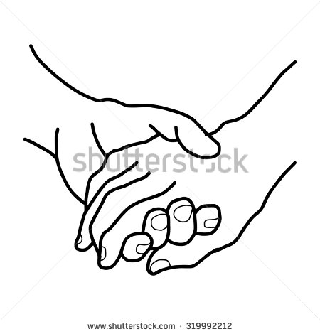 450x470 Holding Hands Coloring Sheet