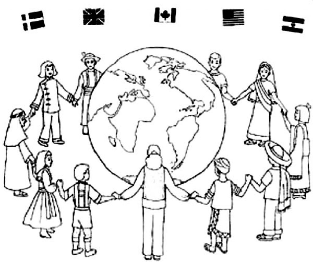 1024x856 Unique Children Around The World Coloring Page