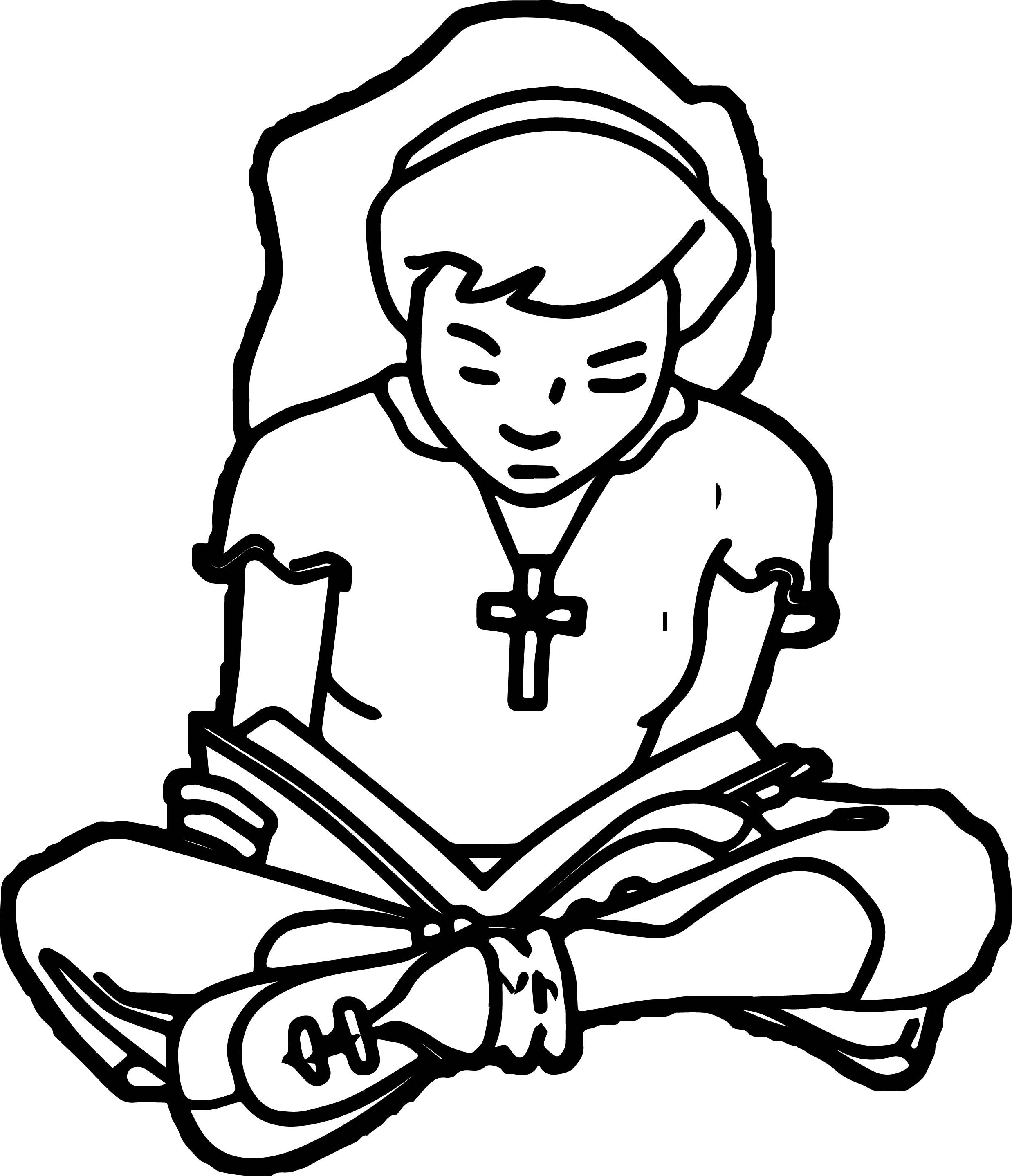 Coloring Pages Of Children Reading