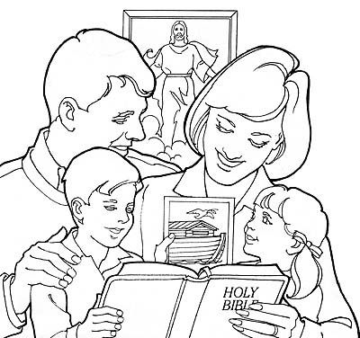 400x376 Coloring Pages Child Reading Bible Child Reading Bible Coloring