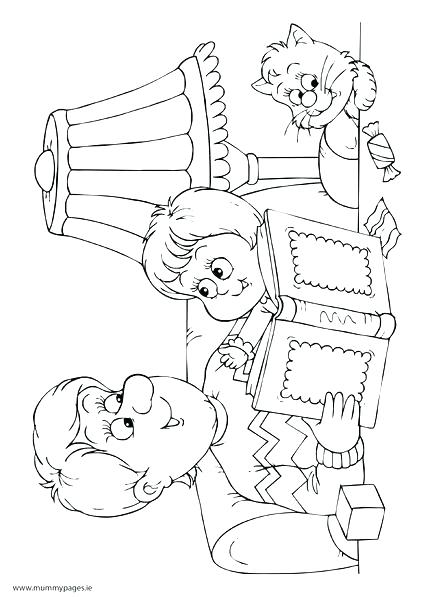 422x597 Reading Coloring Page Reading Coloring Pages Daddy And Child
