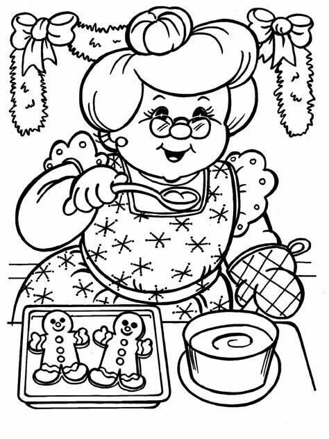 Coloring Pages Of Christmas Cookies