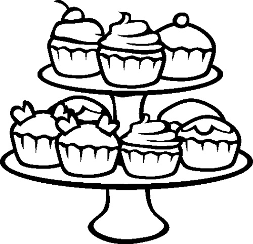500x482 Cupcakes Coloring Page Cookie Coloring Books And Craft