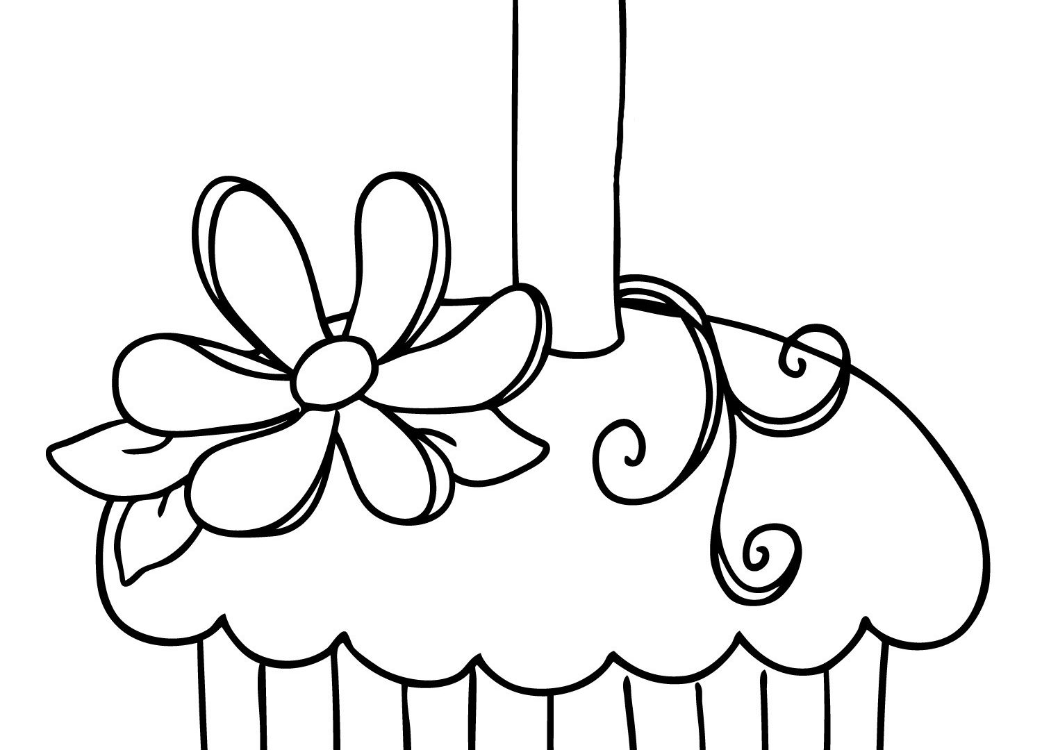 1500x1080 Free Colouring Pages Cupcakes Coloring Book Of Cute Pretty