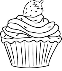 209x241 Pretty Cupcake Coloring Pages