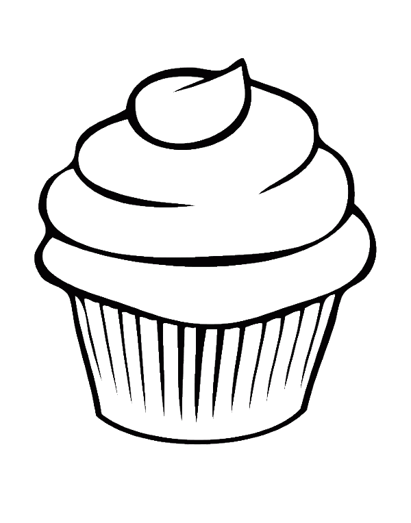 600x764 Pretty Cupcake Coloring Pages