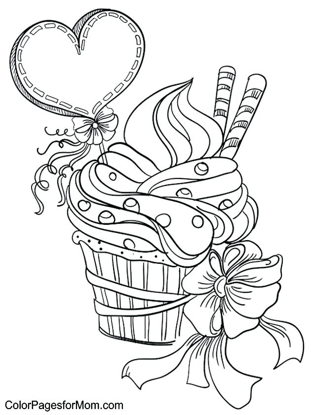 630x840 Coloring Pages Of Cupcakes And Cookies Cookie Coloring Pages Epic