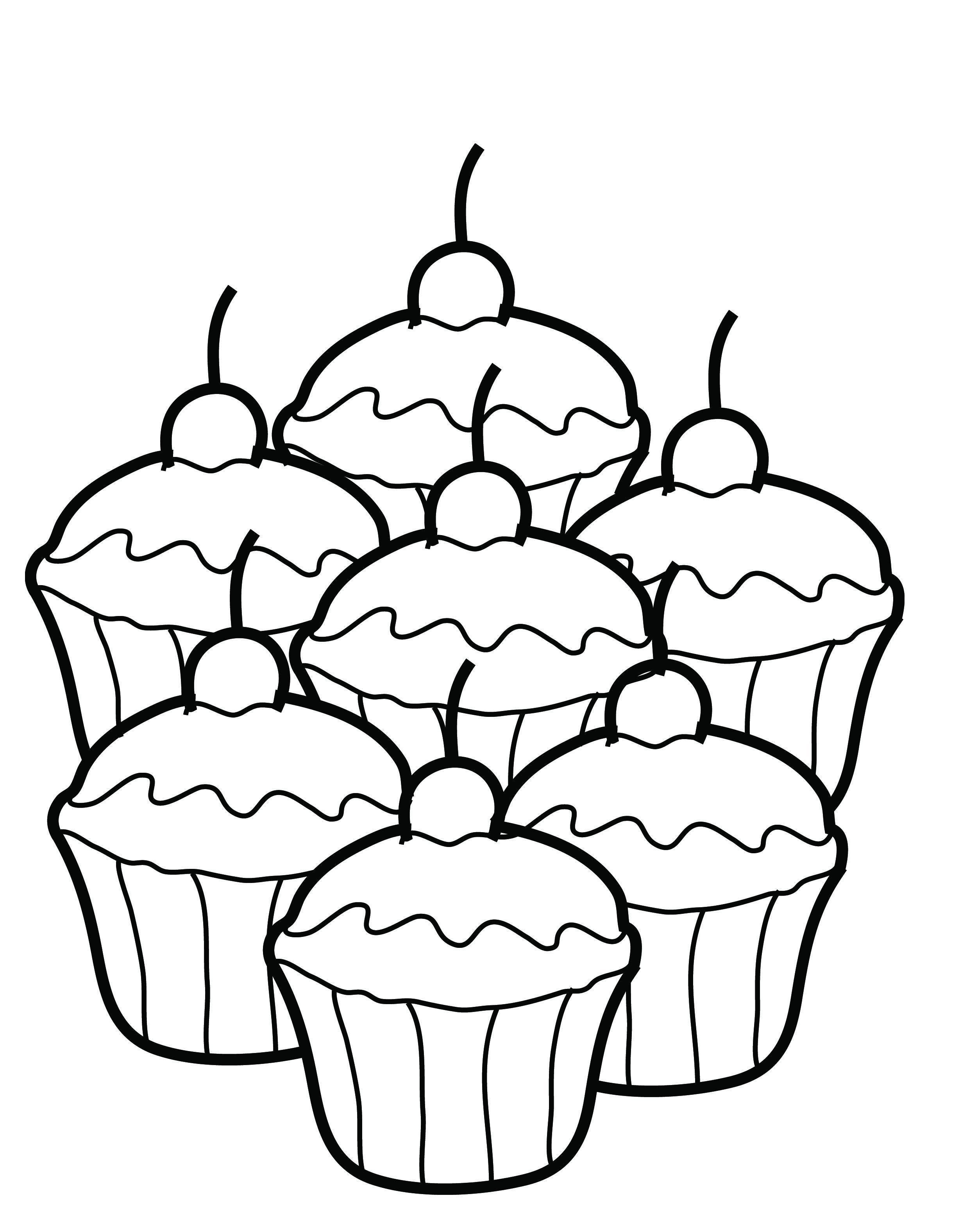 2480x3152 Coloring Sheets Cupcakes Coloring Sheet