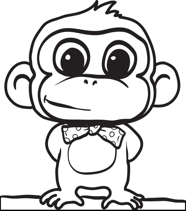 616x700 Coloring Pages Of Cute Baby Monkeys Cute Monkeys Coloring Pages