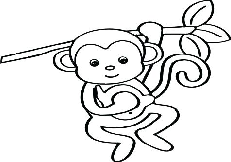 476x333 Coloring Pages Monkeys Monkey Face Color Page Coloring Pages