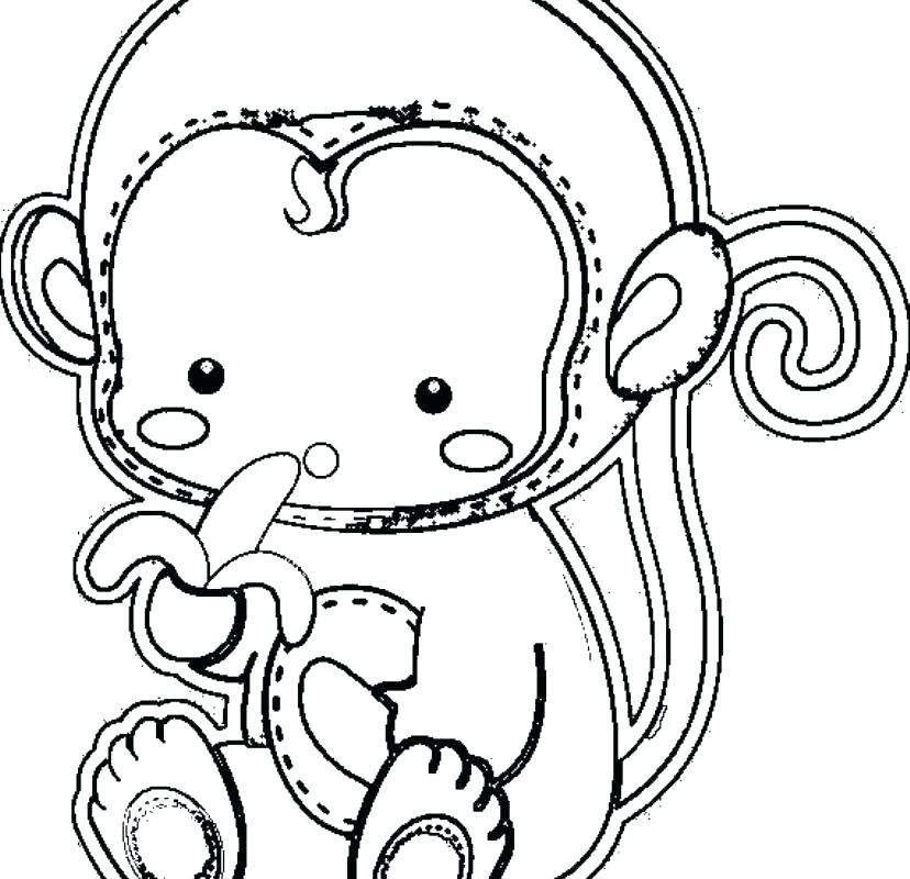 828x800 Cute Baby Monkey Coloring Pages Cute Monkey Coloring Pages Cute
