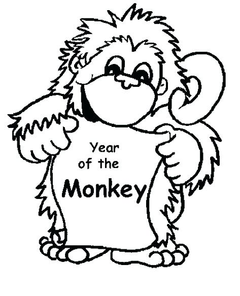 473x583 Cute Monkey Coloring Pages Cute Baby Monkey Coloring Page For Our