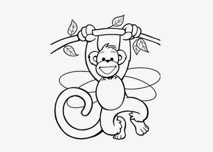 700x500 Cute Baby Monkey Coloring Pages Free Coloring Pages And Coloring