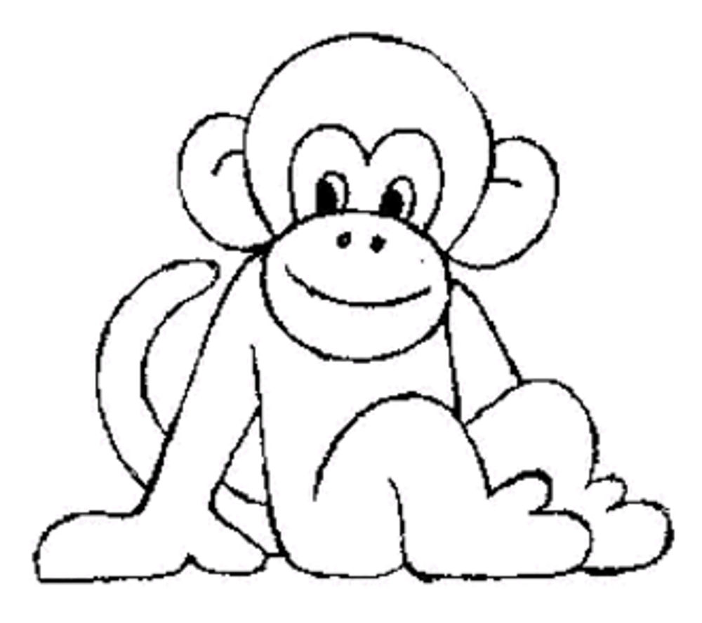 1000x888 Fancy Ideas Cute Baby Monkey Coloring Pages