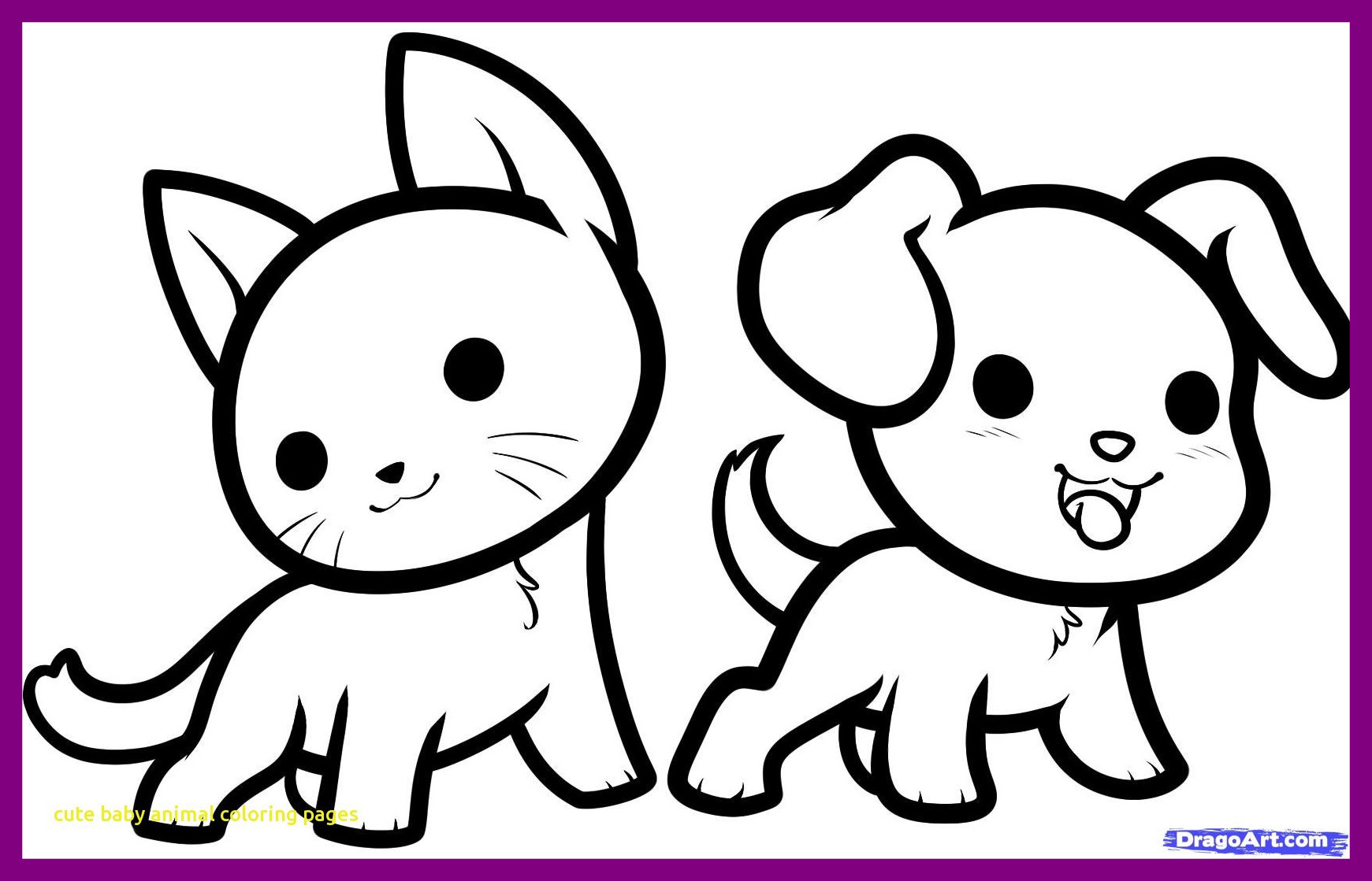 Coloring Pages Of Cute Baby Puppies