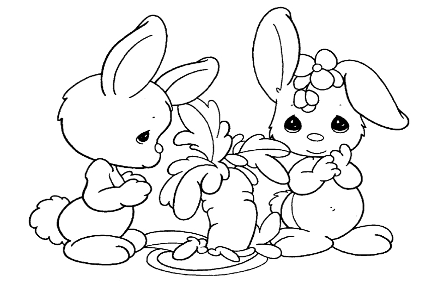 850x567 Color In A Bunny Coloring Page In Stead Of Buying Some Pets