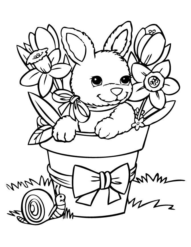 670x867 Spring And Easter Printable Coloring Pages
