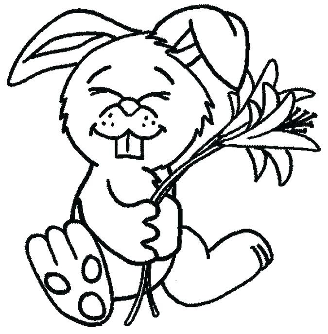 675x688 Printable Bunny Coloring Pages