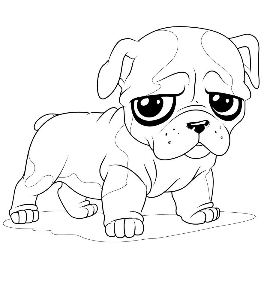 Coloring Pages Of Cute Dogs And Puppies