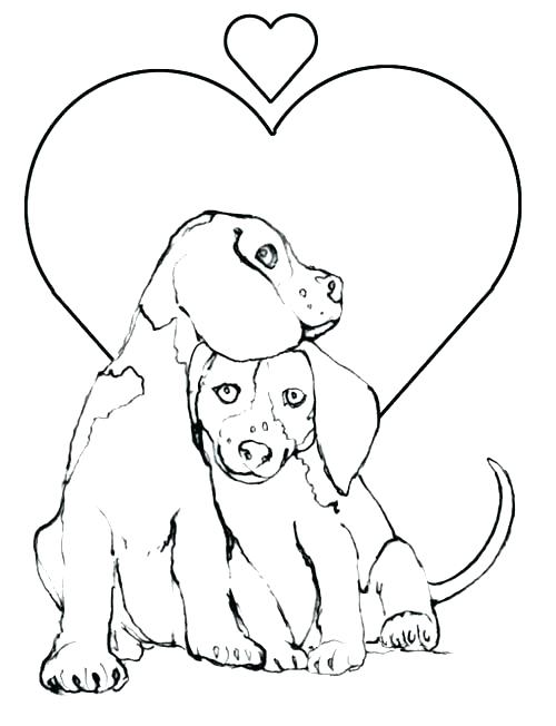 500x652 Coloring Pages Cute Dogs Puppies Cute Little Bulldog Puppy