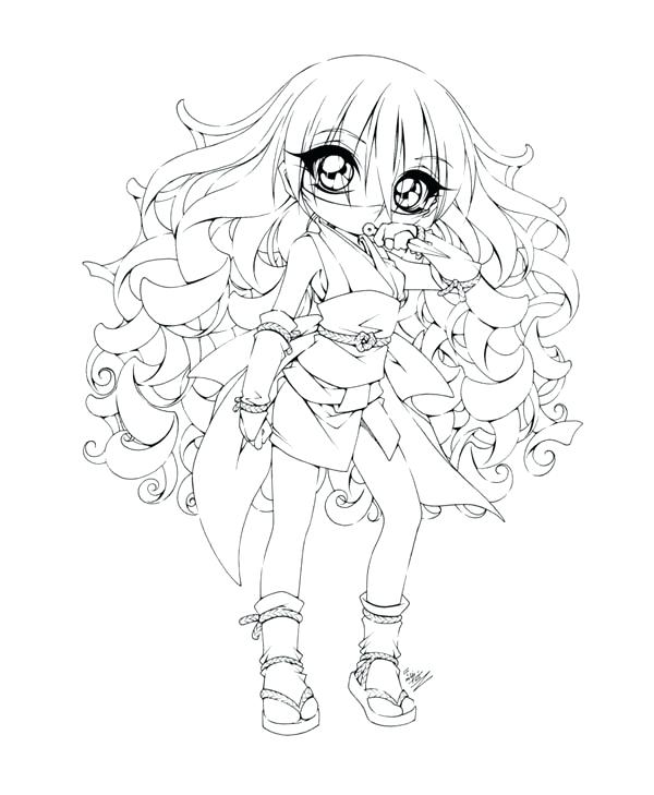 600x729 Cute Girl Coloring Pages Anime Character Anime Coloring Pages Cute