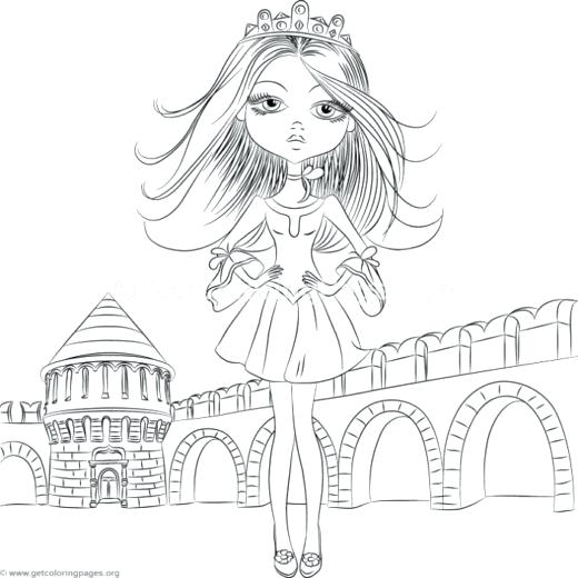520x520 Cute Girl Coloring Pages Together With Cute Girl Wearing A Crown