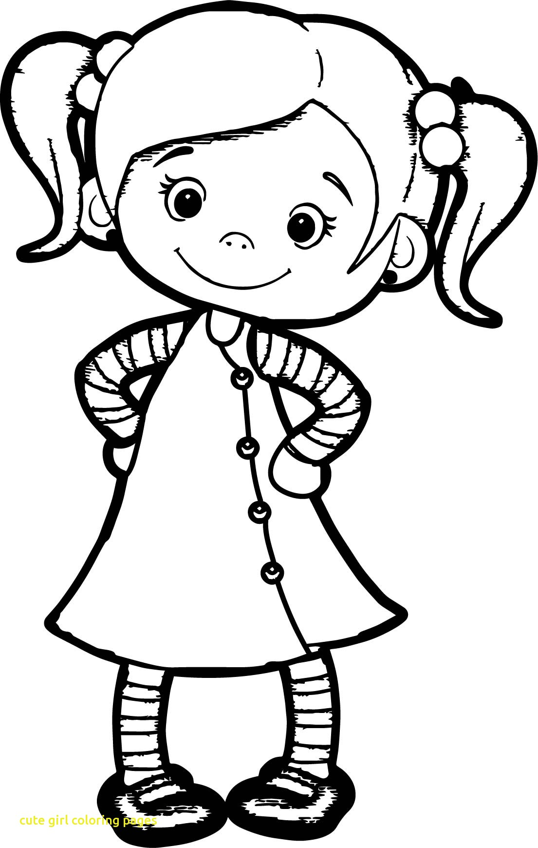 1105x1740 Cute Girl Coloring Pages With Beautiful Page