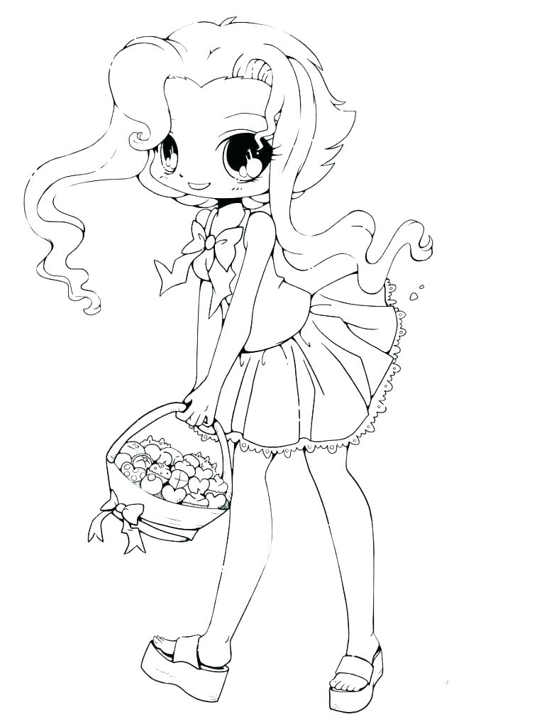757x1024 Anime Girl Coloring Page Cute Girl Coloring Pages Cute Girl