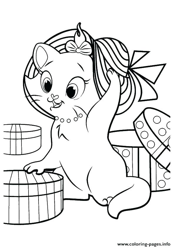 595x842 Cute Kitten Coloring Pages Kitten Printable Coloring Pages
