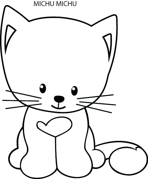 516x624 Cute Kittens Coloring Pages Kittens Coloring Page Cute Kitten